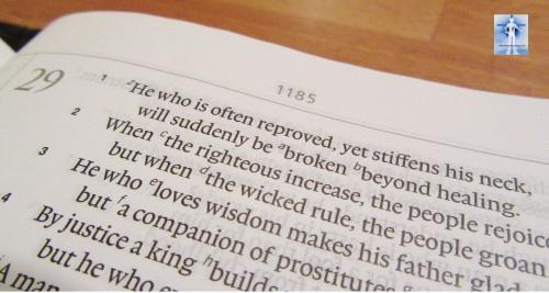 Proverbs 29:1, 11